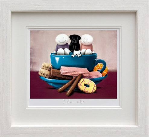 A Cup of Love by Doug Hyde - Framed Limited Edition on Paper